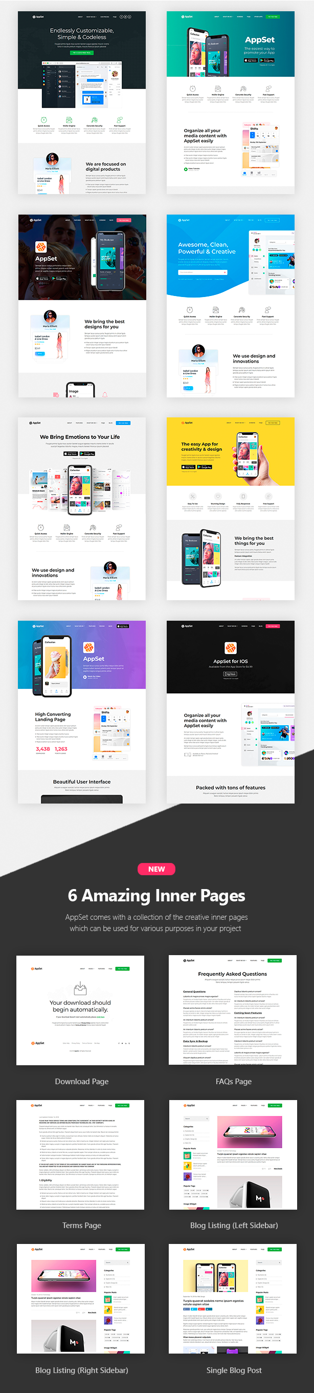 Appset - App landing WordPress Theme - 3