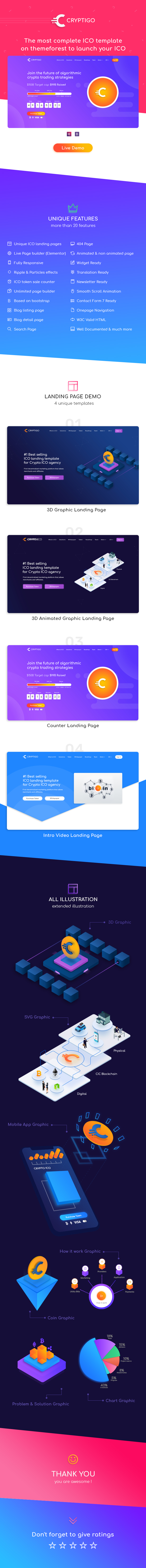 Cryptoigo - Cryptocurrency WordPress Theme With Elementor Page Builder - 2