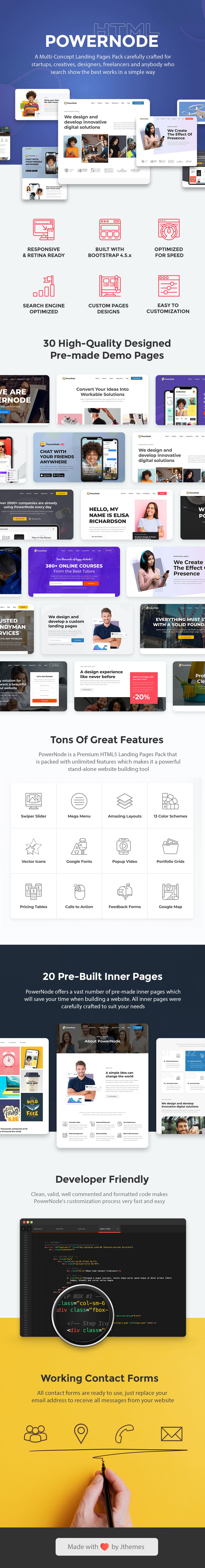 PowerNode - Multi-Concept Landing Pages HTML Template - 1