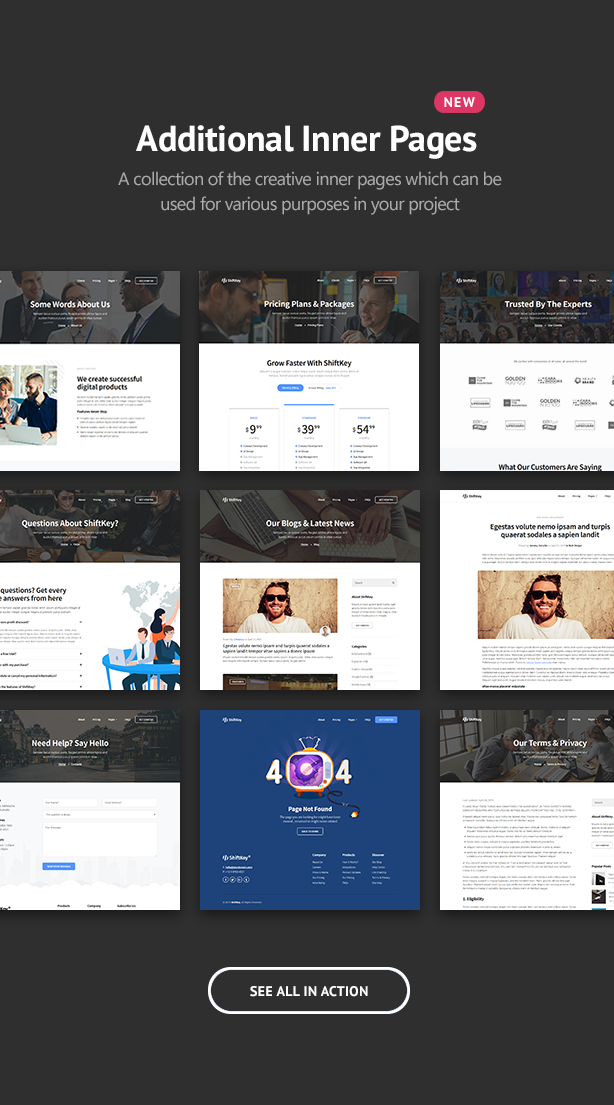 ShiftKey - Landing Pages WordPress Theme - 3