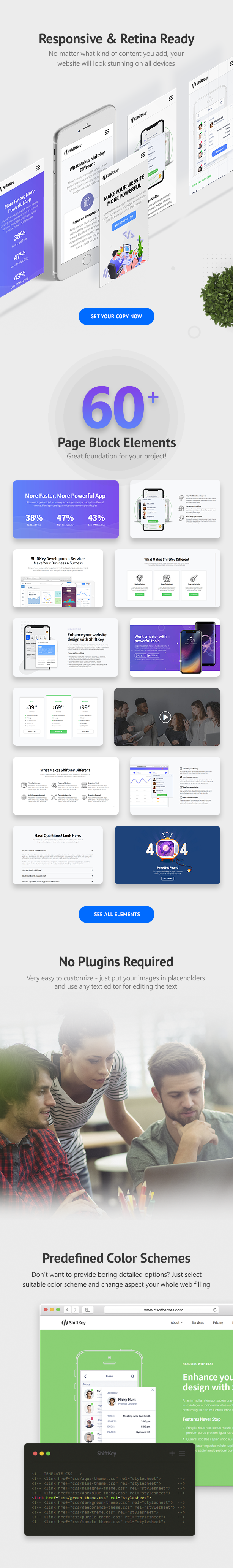 ShiftKey - Landing Pages WordPress Theme - 4